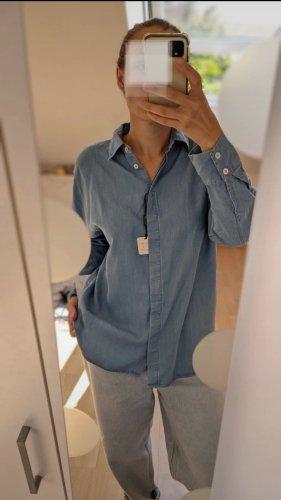 Massimo Dutti Shirt Blouse azure-cornflower blue