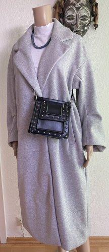 Zara Cappotto taglie forti grigio chiaro