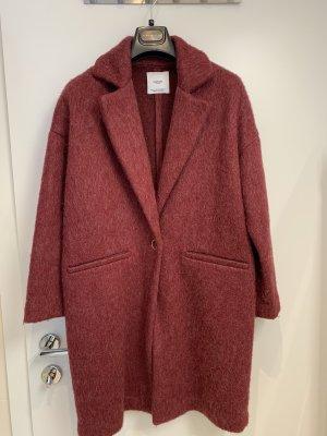 Zara Oversized Coat russet-brown red