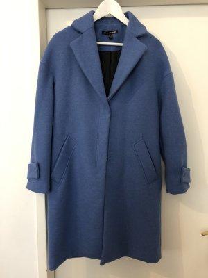 trf_outerwear Abrigo ancho azul acero-azul aciano