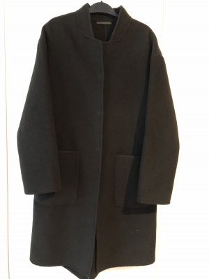 Mango Oversized Coat dark green