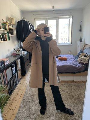 René Lezard Cappotto con cappuccio color cammello-beige Cachemire