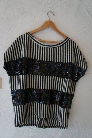Koszulka oversize czarny-biały Poliester
