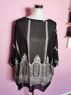 Camicia oversize nero-bianco