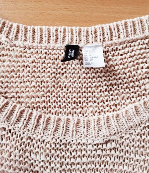 H&M Divided Oversized Sweater oatmeal-natural white