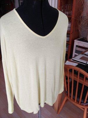 Sarah Sweter oversize jasnożółty-limonkowy żółty