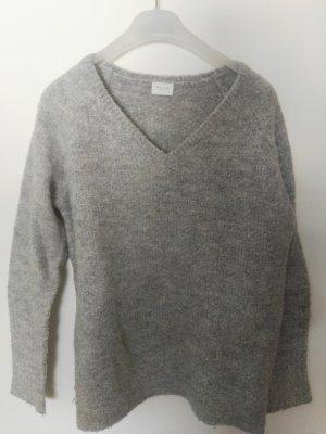 Vila Jersey de lana gris claro-gris