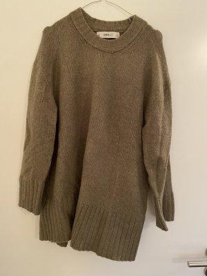 Zara Knit Pull oversize gris vert