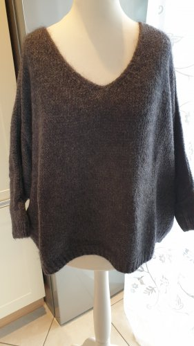 Oversized Pullover, grau, One Size