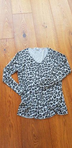 Oversized Pullover im Leopardenlook, Größe S