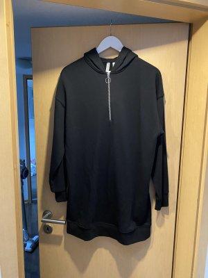 H&M Swetrowa sukienka czarny-srebrny