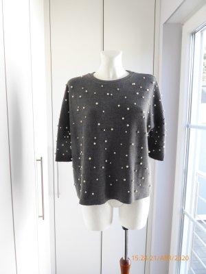Oversized Pullover mit Perlen Größe S