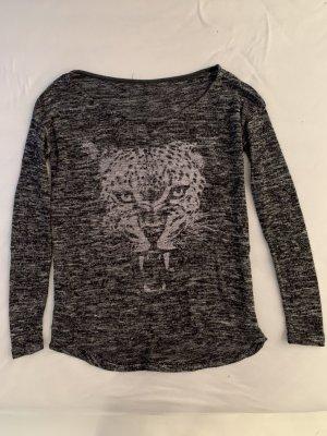oversized Pullover mit Tigerkopf