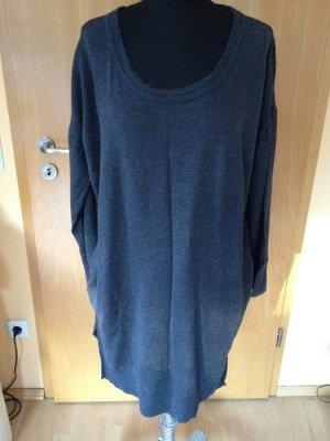 Oversized-Pullover, Strick, H&M, grau, Eingrifftaschen, Größe S
