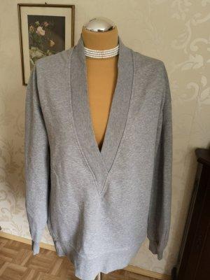 Oversized Pullover tiefer V Ausschnitt  38 40