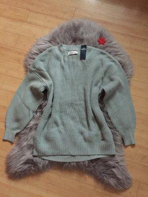 Hollister Sweter oversize jasnoniebieski-miętowy