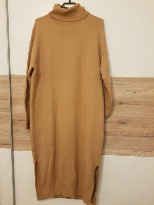 oversized Pulloverkleid Strickkleid beige