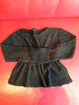 Oversized Schwarzer Pullover