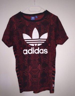 Adidas Camisa holgada negro-rojo oscuro