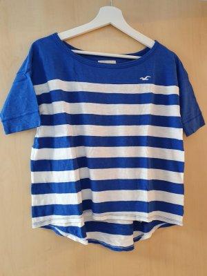 Oversized Shirt, Hollister, Blau-weiß gestreift, XS