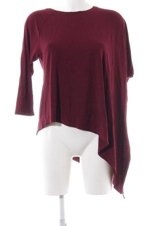 Boysen's Camicia oversize rosso scuro Tessuto misto