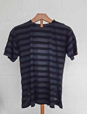 berri Gestreept shirt zwart-donkerblauw