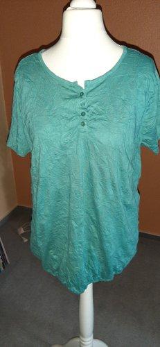Oversized Shirt von Gina Benotti, Gr. 40/42, Crinkle-Stoff, sattes türkis