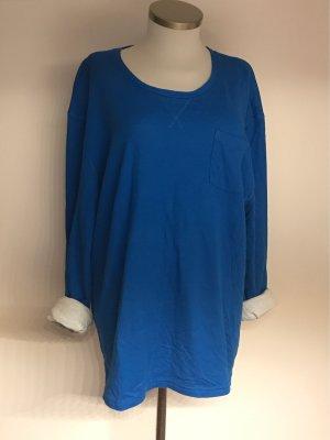 Tom Tailor Camisa holgada azul neón-blanco