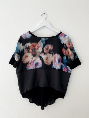oversized Shirt von Zara, bunt/schwarz