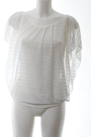 Oversized Shirt weiß Streifenmuster Casual-Look