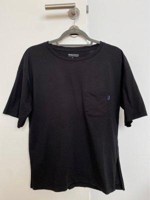 Woolrich Oversized shirt zwart Katoen