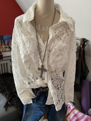 H&M Lace Blouse white