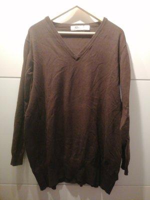 bpc bonprix collection Camisa holgada marrón oscuro