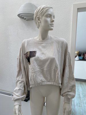 Pull & Bear Bluza dresowa w kolorze białej wełny Bawełna