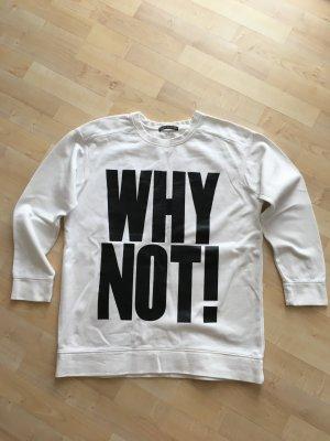 Drykorn Sweatshirt wit-zwart Katoen