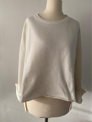 Mango Sweat Shirt cream cotton