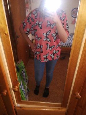 Oversized T-Shirt mit Schmetterlingprint