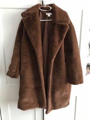 H&M Cappotto in eco pelliccia marrone
