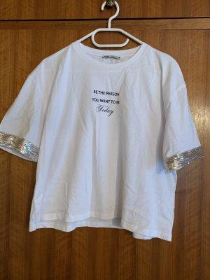 Oversized Tshirt von Zara, Grösse M