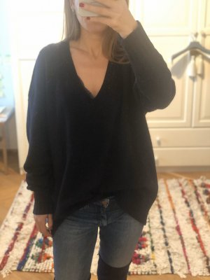 Oversized V-Neck Laine Wool / Cashmere Mix Knitted Jumper