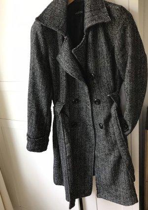 oversized Vintage Mantel grau meliert