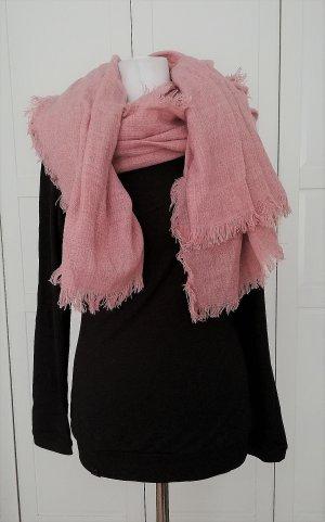Tschibo Sjaal met franjes roze Polyester