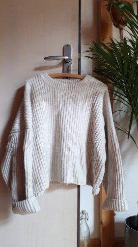 H&M Pullover a maglia grossa bianco sporco-crema Lana