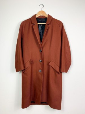 Zara Woman Płaszcz oversize rudy