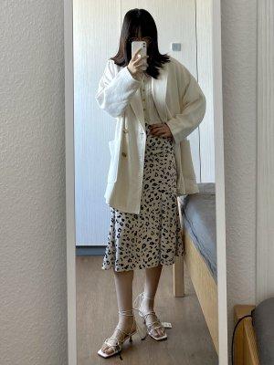 Oversized Zara weißer Mantel