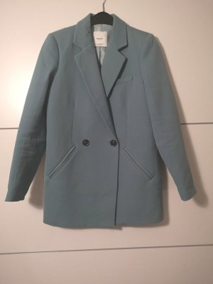 Mango Oversized Jacket slate-gray-pale blue