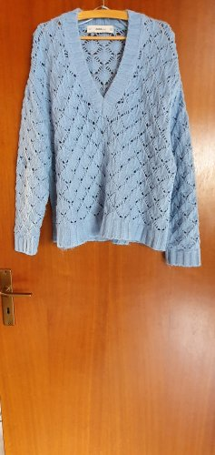 Oversizepullover hellblau, Größe S, Zara