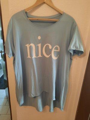 Italy Oversized Shirt azure cotton