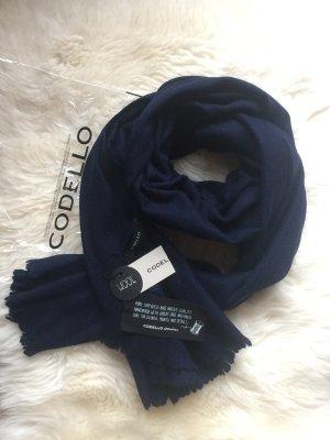 Codello Écharpe en laine bleu foncé-bleu laine