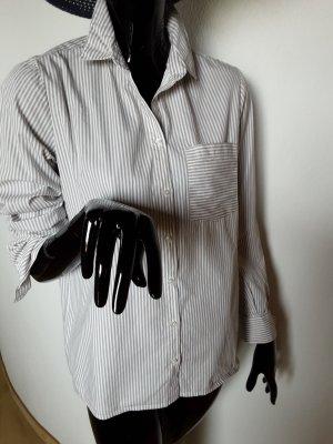 Shirt Blouse white-light brown cotton
